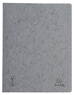 Exacompta 38982e rápido grapadora (cartón de manila, 265 g, DIN A4), color gris