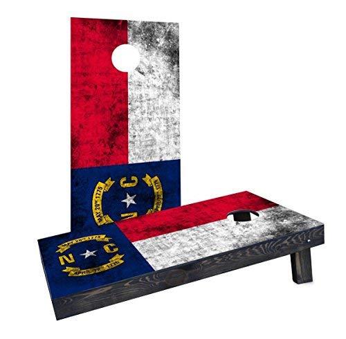 最新人気 Custom Cornhole Boards Boards Flag CCB1179-2x4-C-RH Worn State Carolina) (North Carolina) Flag Cornhole Boards [並行輸入品] B07HLHG7VZ, 泉北郡:2790fdfc --- arianechie.dominiotemporario.com