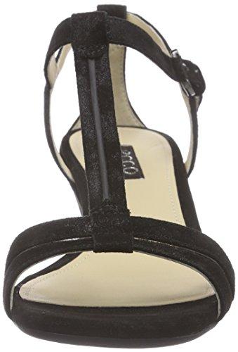 Ecco Rivas 45 Damen T-Spangen Sandalen Schwarz (BLACK 5001)