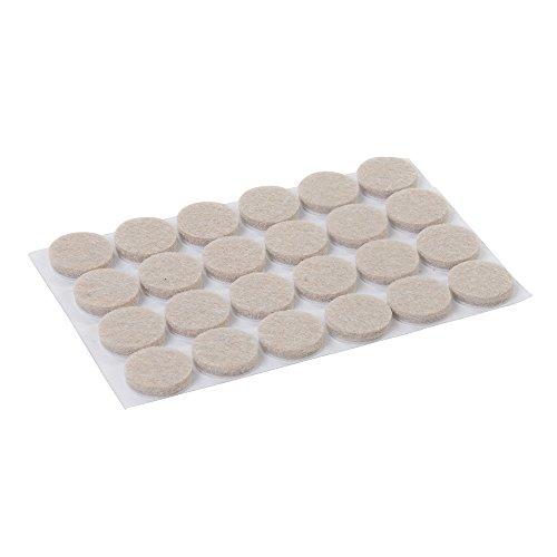 Fixman 900862 Self Adhesive Round Felt Protector Pads 20mm Diameter Pack of 24