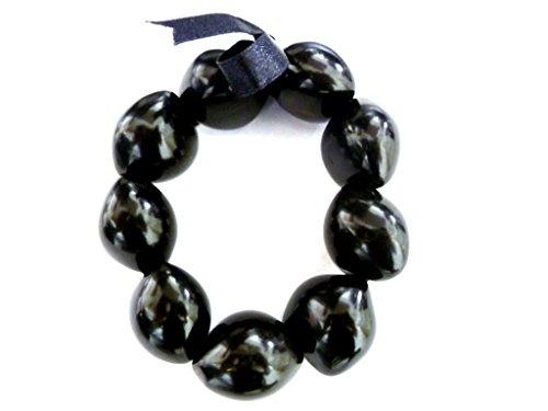- Aloha Passion Hawaiian Style Black Kukui Nut Bracelet