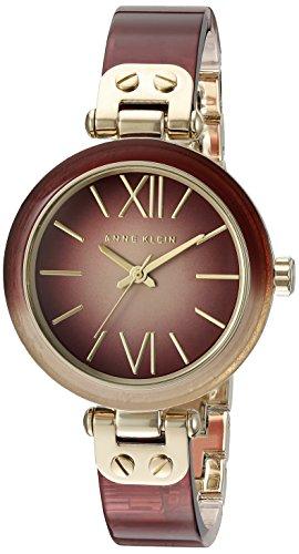 Anne Klein Women's AK/2212BYGB Burgundy Ombre Resin Bangle Watch (Anne Klein Resin Watch compare prices)