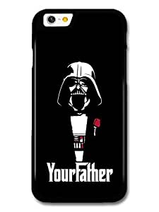AMAF ? Accessories Darth Vader Star Wars Black Illustration Your Father The Godfather case for iPhone 6
