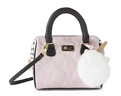Luv Betsey Johnson Harlii Bow Mini Crossbody Satchel Bag - Blush