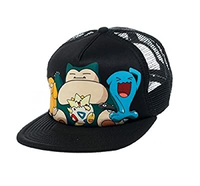 Bioworld Pokemon Snapback Trucker Hat Snorlax, Togepi, Psyduck, Wobbuffet Hat from BioWorld