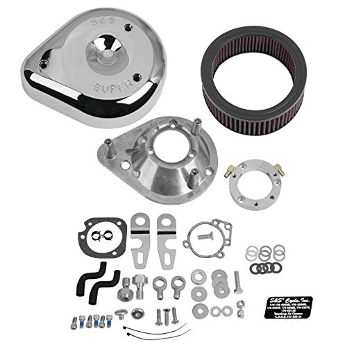 - S&S Cycle Teardrop Air Cleaner Kit Stock EFI Compatible for Harley-Davidson XL 2019 - Chrome
