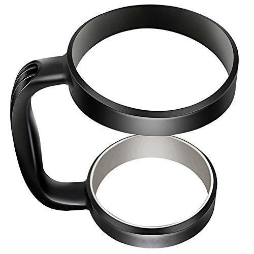 Handle for 30 oz Tumblers - Portable Anti-Slip Handle Versatile, Available for YETI, RTIC, OZARK TRAIL, SIC CUP Rambler & More Tumbler Travel Mug (Black)