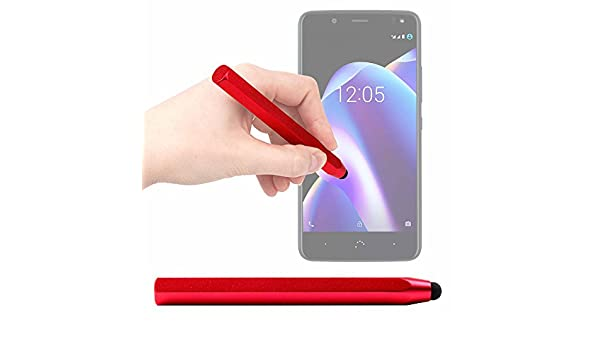 DURAGADGET Lápiz Stylus Rojo para Smartphone BQ Aquaris U2 (y Lite) | Aquaris U2 | Aquaris V (y Plus): Amazon.es: Electrónica