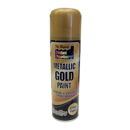 Rapide Paint 'Auto' 250ml Spray Can 'Metallic Gold'
