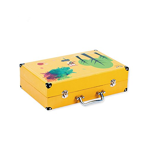 JIANGXIUQIN Artist Art Drawing Set, 158 Luxury Art Painting Supplies, Cute Snap-on Suitcases Store Everything, Free to Create A Variety of Artistic Media. Gifts for Children and Children. by JIANGXIUQIN (Image #1)