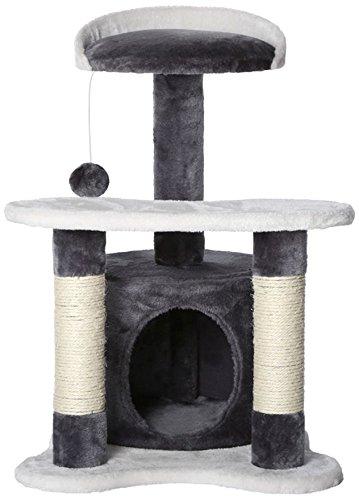 Dibea KB00141 Rascador para Gatos, Altura 65 Cm, Árbol Escalador Arañar Juguete Color Gris y Blanco: Amazon.es: Productos para mascotas