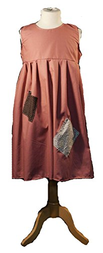 Orphan Costume For Annie Play (Victorian-Orphan-World Book Day WORKHOUSE DRESS Child's Fancy Dress – All Ages & Colours (TEEN, DUSKY PINK))