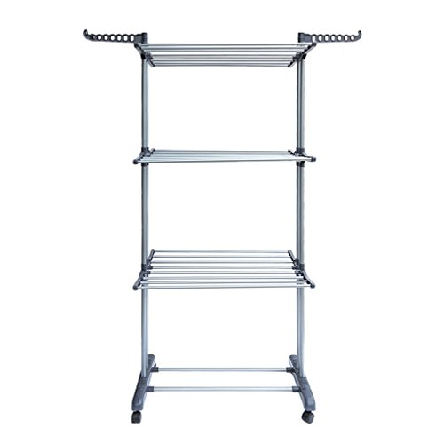 Blackpoolfa Portable Clothes Rail with 4 Casters by Folding