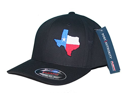 Texas State Flag Hat Cap Flexfit (L/XL) Black