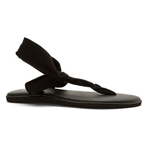 Sanuk Women's Yoga Sling Ella Flip Flop, Black, 9 M US