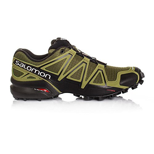 Salomon Men's Speedcross 4 Trail Running Shoe (8.5 D(M) US, Ranger Green/Martini Olive/Black)