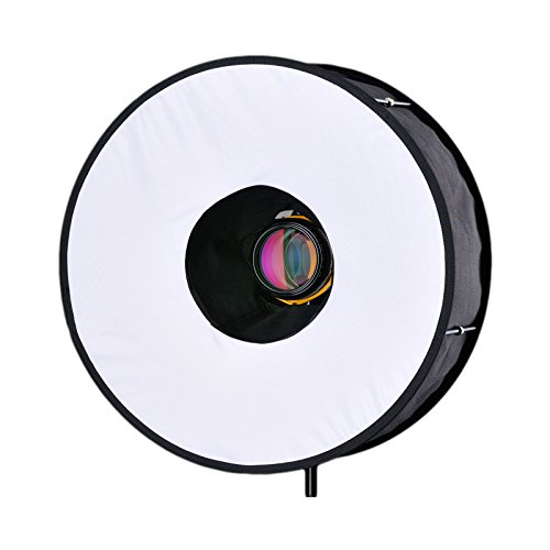 RoundFlash Collapsible Light Weight Ring Light Sofbox for Shadowless Portrait/Still Life - Roundflash