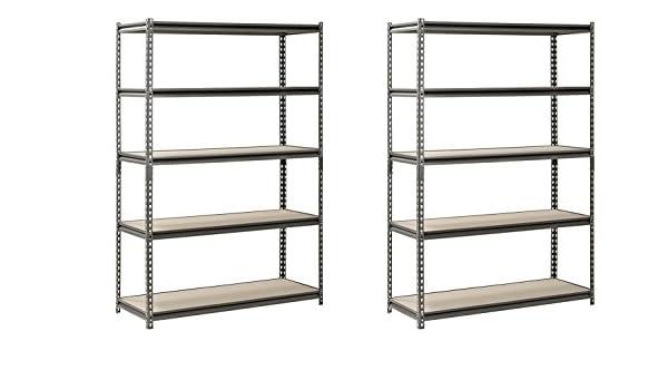 amazon com hardware outdoor edsal heavy duty garage shelf steel rh amazon com adjustable closet shelving hardware