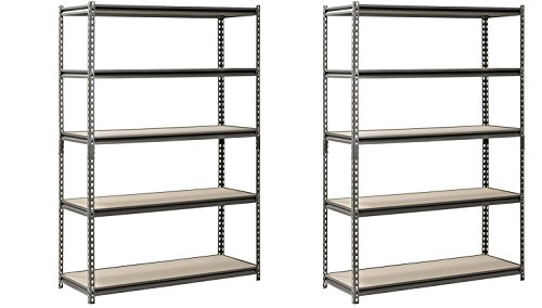 Hardware & Outdoor Heavy Duty Garage Shelf Steel Metal Storage 5 Level Adjustable Shelves Unit 72
