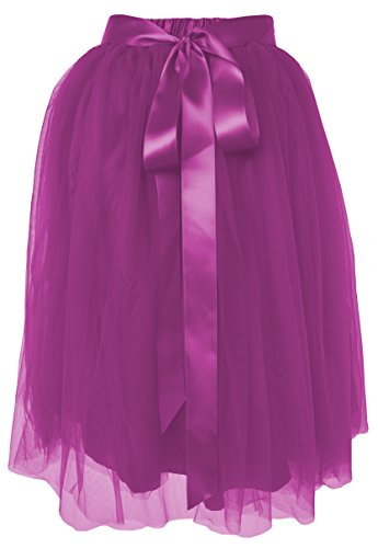 Dancina Women's Knee Length Tutu A Line Layered Tulle Skirt Size Regular 2-18 (Length Tutu)