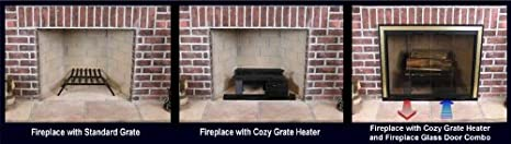 spitfire fireplace heater. amazon.com : thermo-rite 48 pound cozy grate heater with left hand motor garden \u0026 outdoor spitfire fireplace c