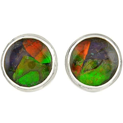 Starborn Sterling Silver Ammolite Post Earrings -