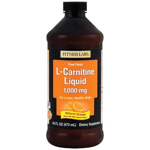 Fitness Labs L-Carnitine Liquid 1000mg Natural Orange, 16 Fluid Ounces