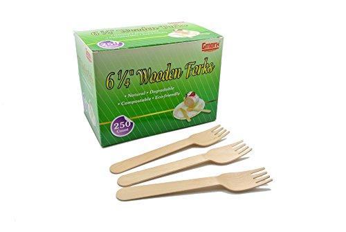 Gmark 250 ct Wooden Forks, 6.25