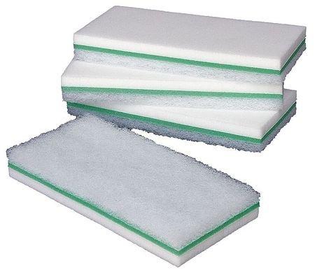 Melamine Utility Scrub Pad, White, 9''L, PK6 by Tough Guy