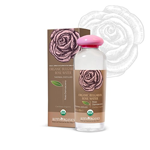 Alteya USDA Organic Bulgarian Rose Water (From New Rose Harvest) - LARGE, 250ml/8.5oz, Special Thermal-Distilled, From Our Rose Farm and (Perfumed Water)