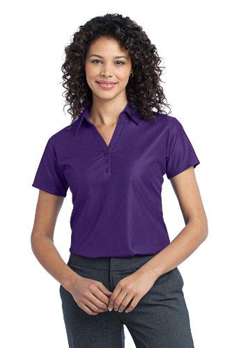 (Port Authority Women's Vertical Pique Polo L Majestic Purple)