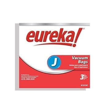 9 Eureka J Vacuum Bags Series 2270 /& 2900-2920 61515C-6 GENUINE