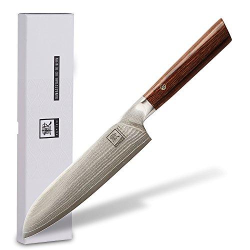 zayiko Kass Damastmesser Santoku Messer 17,70 cm Klinge extrem scharf aus 67 Lagen I Damast Küchenmesser und Profi…
