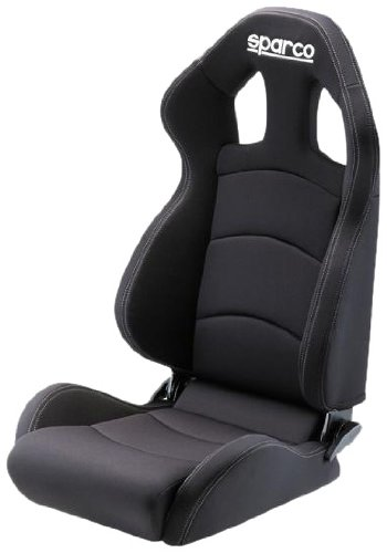 Sparco Chrono Road Black Medium Seat (Harness 3 Point Sparco)