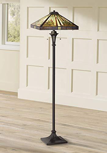 Quoizel Shiloh Tiffany Art Glass Floor Lamp