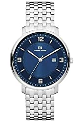 Danish Design Men's Steel Bracelet & Case Quartz Blue Dial Analog Watch IQ68Q1105