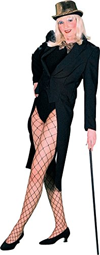 [Adult Fancy Dress Party Ladies Theatre Of Fashion Swallow Tailcoat Costume Black] (Womens Tailcoat Costume)