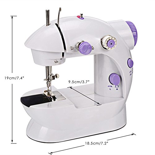 Declare Small Casual Carriable Sew Mini Portable 2-Speed Sewing Machine with 4 Bobbins by Declare