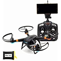 RealAcc Global Drone GW007-1 Upgrade DM007 WIFI FPV With 720P Camera 2.4G 4CH 6Axis RC Quadcopter Mode 2 (Black)