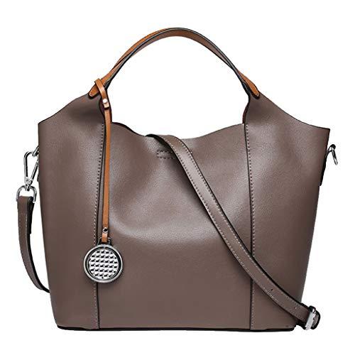 Grande Delle Bag Tote Versatile Tracolla Borsa Capienza Datazione Donne Semplice Di A Multifunzionale Brown Casuale Signore Lavoro w8I87Tq