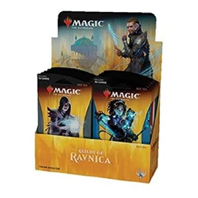 Magic The Gathering MTG-GRN-TBD-EN Guilds of Ravnica Theme Booster Display of 10 Packets, Multi: Toys & Games
