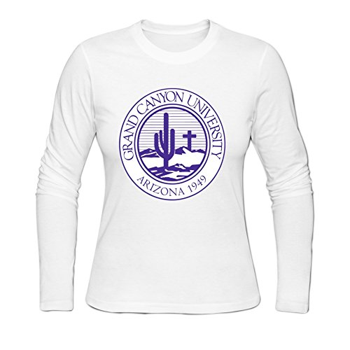 Loshery Women's Grand Canyon University Honey's Long T-shirts Casual Cotton Tee S White