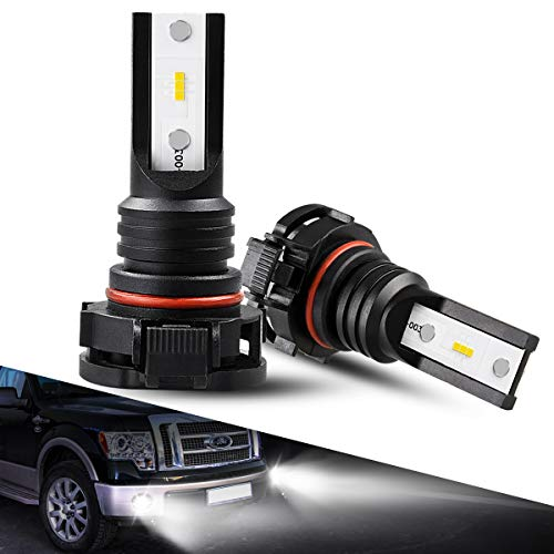 5202 LED Fog Light Bulbs, Marsauto G2s Series Super Bright 5201 LED Foglight IP67 CSP Chips 6000K Xenon White 2-Pack
