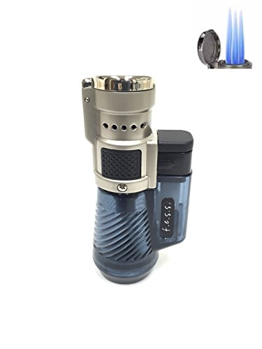 F.e.s.s Fess Quad Jet Flame Butane Torch Cigarette Cigar Lighter