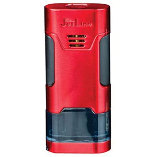 Prestige Import Group - Mongoose Triple Flame Torch Lighter - Red - Built in Punch Cutter - Jetline