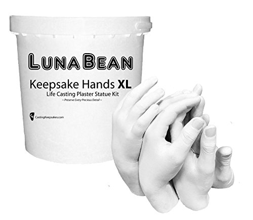 Luna Bean KEEPSAKE HANDS -XL- CASTING KIT Large Plaster Statue Hand Cast Family by Unknown