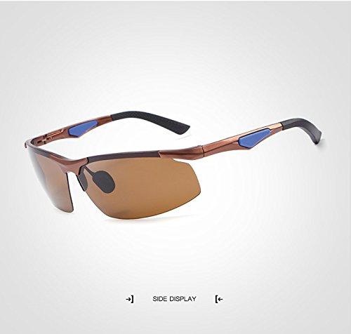 sin Sun Male Gafas de Gafas sin Adultos de Marco Deportiva Gafas de Gafas conducción JCH rebordes Sol Rectángulo Sol Polaroid para Sol Sol UV400 de Gafas de Unisex de Brown Moda para Gafas Grandes Espejo a85q1w4v