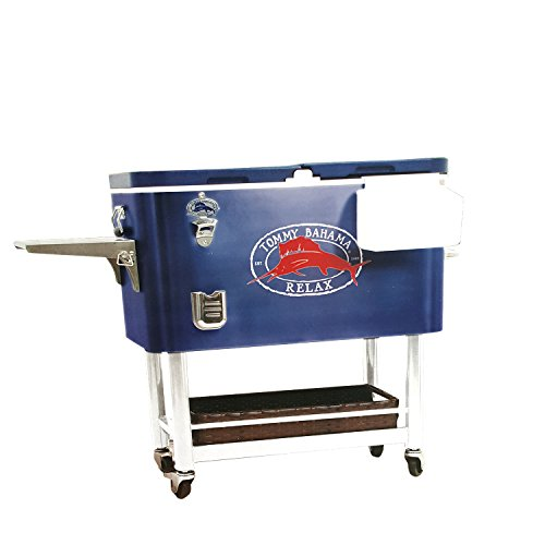 Tommy Bahama - 100 Qt Stainless Steel Rolling Party Cooler - 130 Can (Stainless Steel Rolling Cooler)