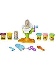 Play-Doh Buzz 'n Cut Fuzzy Pumper Barber Shop Toy with Electric Buzzer and 5 Non-Toxic Play-Doh Colors, 2-Ounce Cans