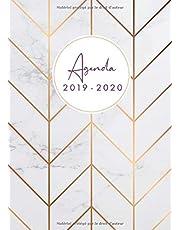Agenda 2019-20: Agenda 18 mois journalier 2019-20 - format A5 - juillet 2019 à décembre 2020, motif motif abstrait marbre